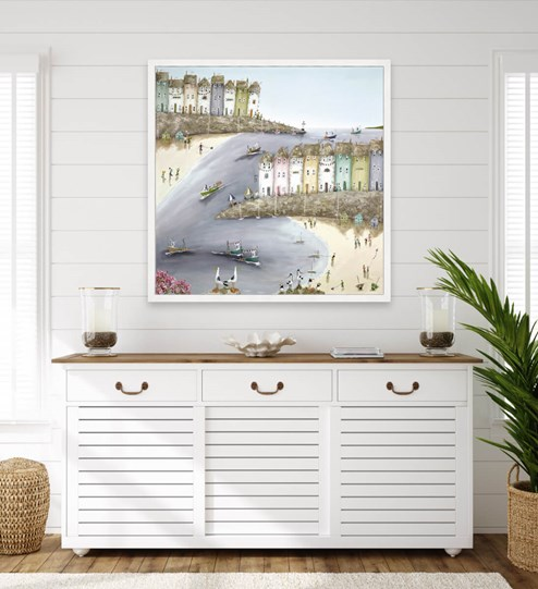Bright and Breezy by Rebecca Lardner - Box Canvas wall setting